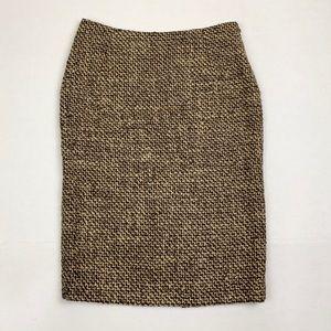 TAHARI brown tweed pencil skirt